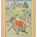 Prince salim riding an escaped elephant, mughal india, probably allahabad, circa 1600-1605