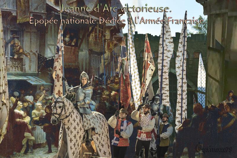 Jeanne d'Arc victorieuse épopée nationale dédiée à l'armée française