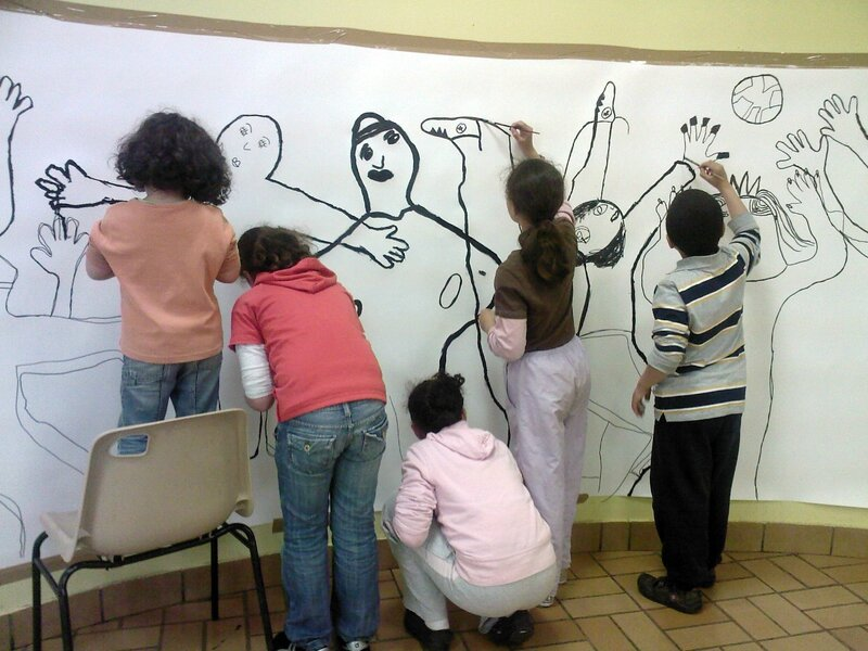 Atelier enfants-Dessins mur