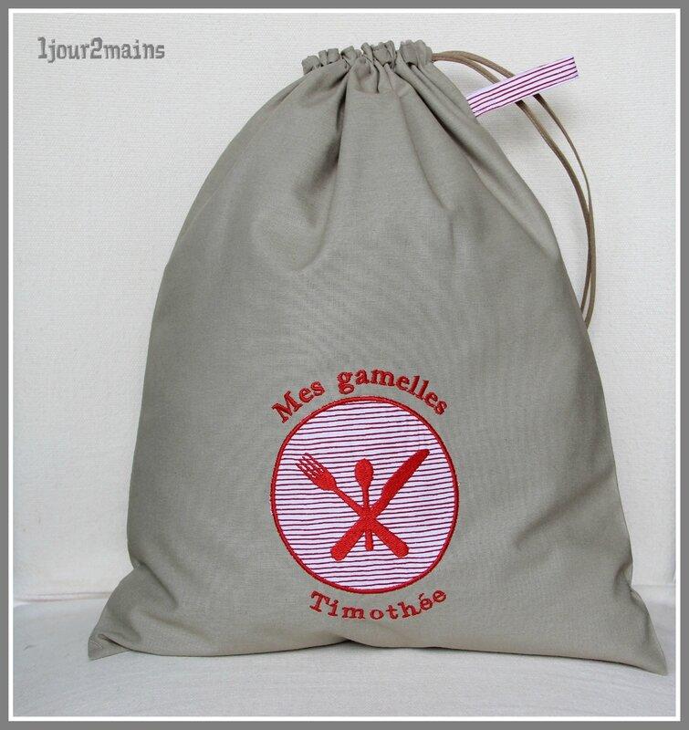 sac gamelle timothée