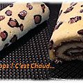 Léopard roll cake (gâteau roulé avec imprimé léopard)
