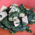 Epinards frais et thon au wok