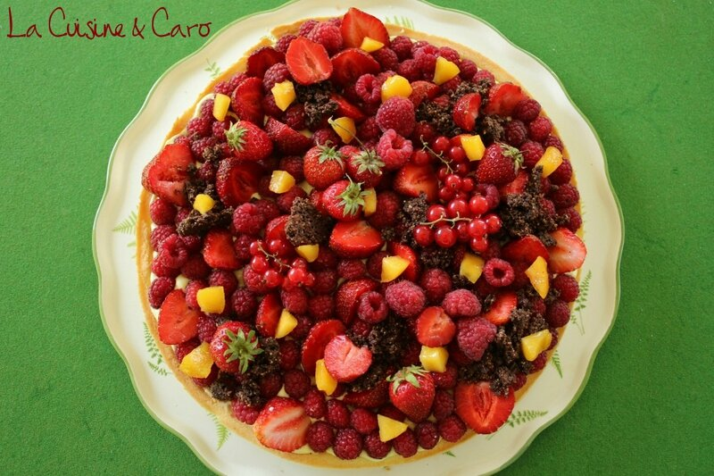 tarte_basilic_fruits_rouges_mangue_crumble_choco