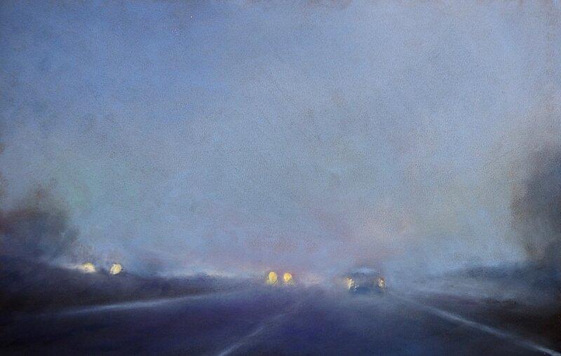 k'nowhere 91, oct 2017, pastel à l'huile, 48 x 32 cm