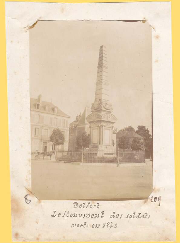 Belfort Photo Monument 1870 BF