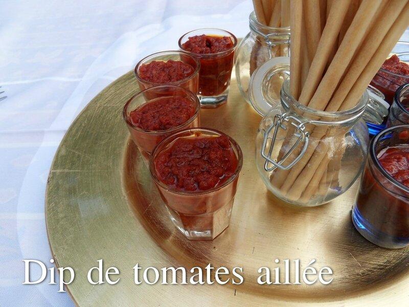 dip de tomates aillée
