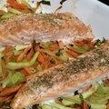 Pavés de saumon aux petits légumes
