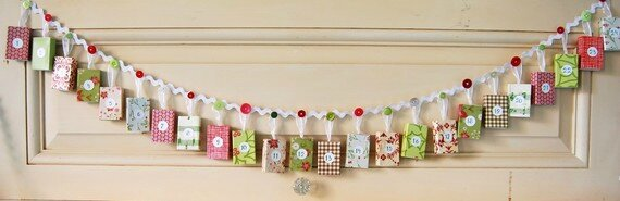 Christmas Advent Calendar Garland
