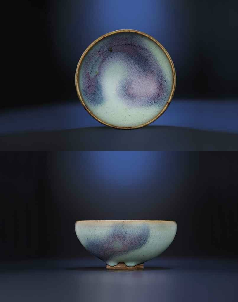 A purple-splashedjun-glazed 'bubble' bowl, Song-Yuan dynasty (960-1368)