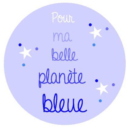 Logo cercle planète bleue
