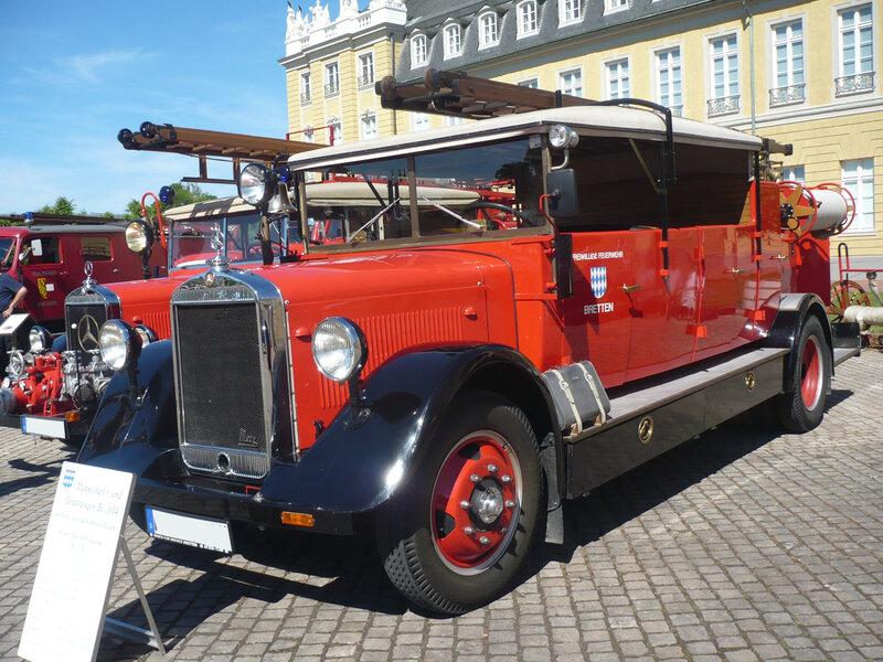 MERCEDES L-60 Freiwillige Feuerwehr Bretten carrossé par Metz 1934 Karlsruhe (1)