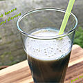 Smoothie banane et flocons d'avoine