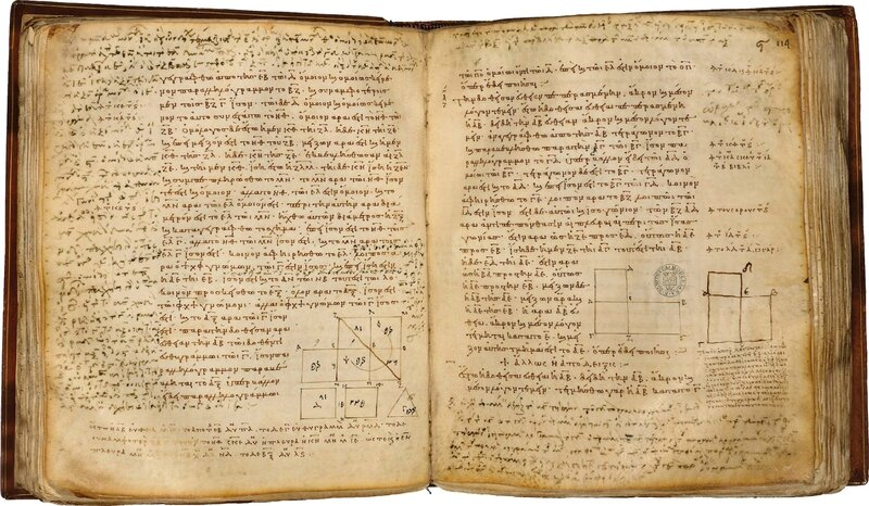 The-Earliest-manuscrpt-of-Euclid-AD888-large