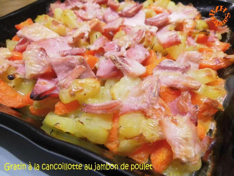 0117 Gratin à la cancoillotte au jambon de poulet 2