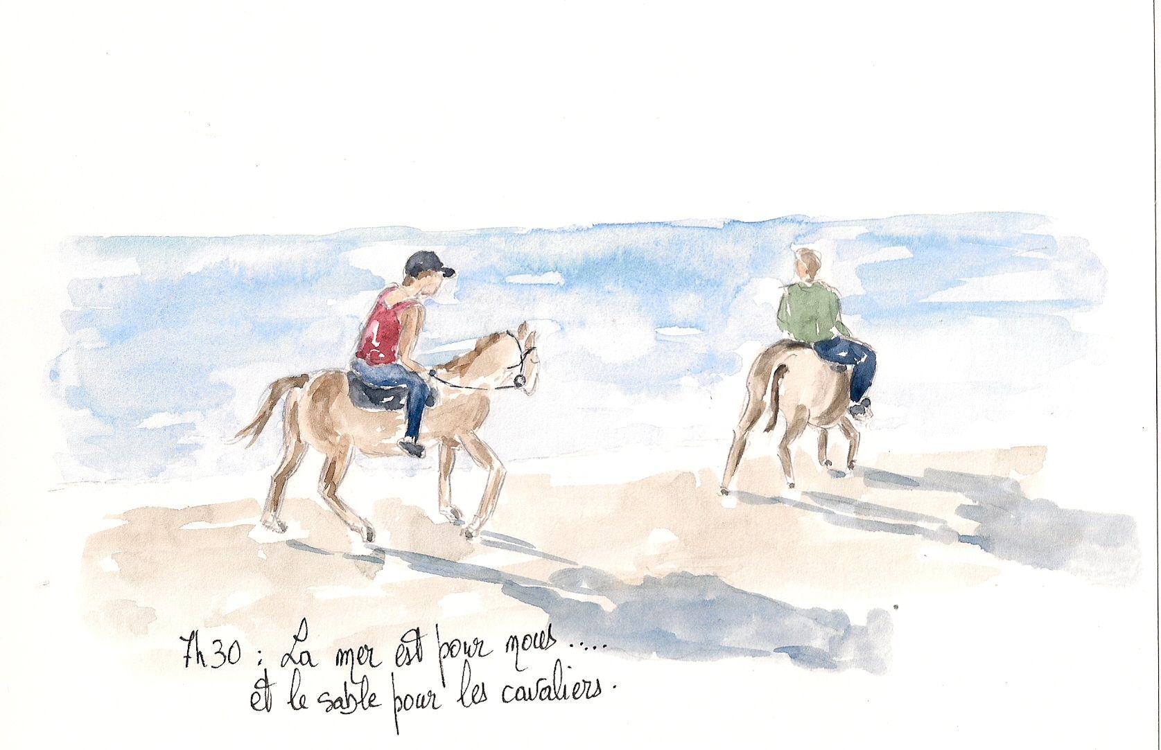 Cavaliers sur la plage de Palombaggia