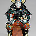 A fine and rare kakiemon model of a samurai, edo period, late 17th-early 18th century