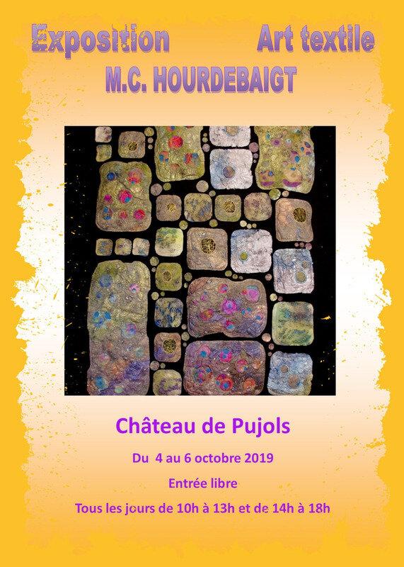 Photos de l'exposition de Marie Christine Hourdebaigt à Pujols en Gironde