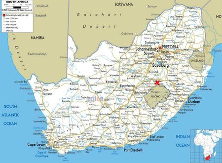 road-map-of-South-Africa-clarens