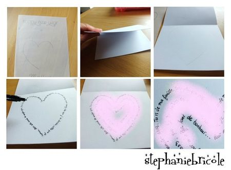 diy carte saint valentin
