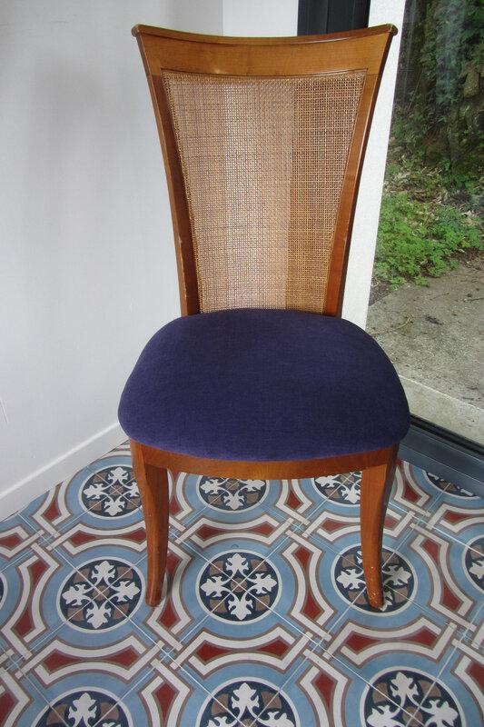 amara violet galette de chaise à retapisser