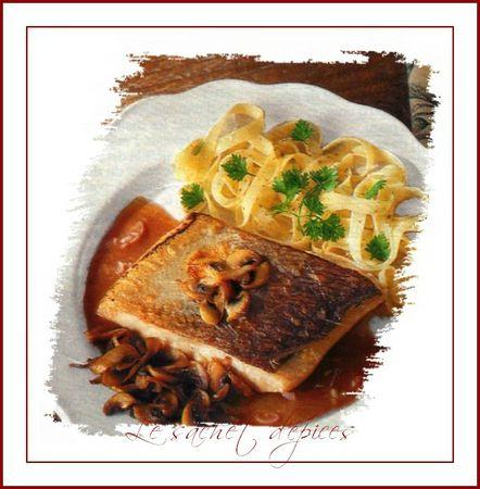 Pavés de saumon sauce bourguignonne