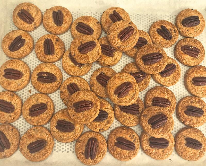 biscuits aux noix de pécan cuits