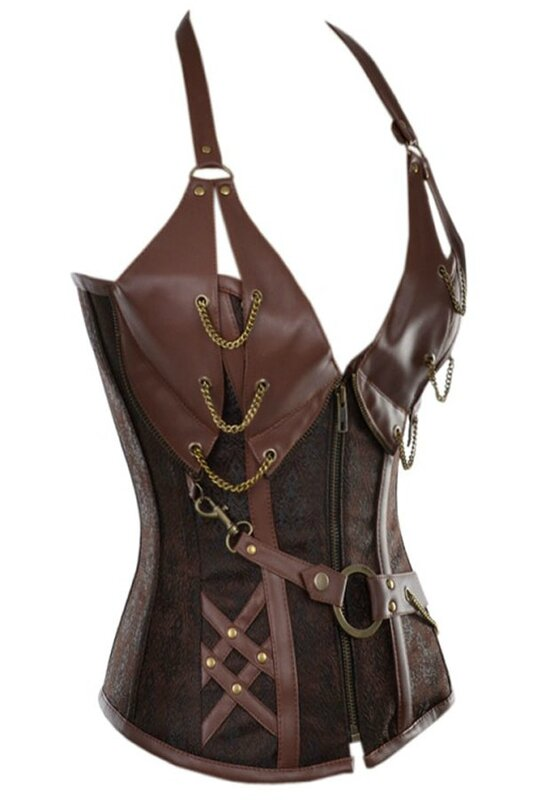 14-Steel-Bone-Steampunk-Leather-Corset-with-Thong-LC5401-2