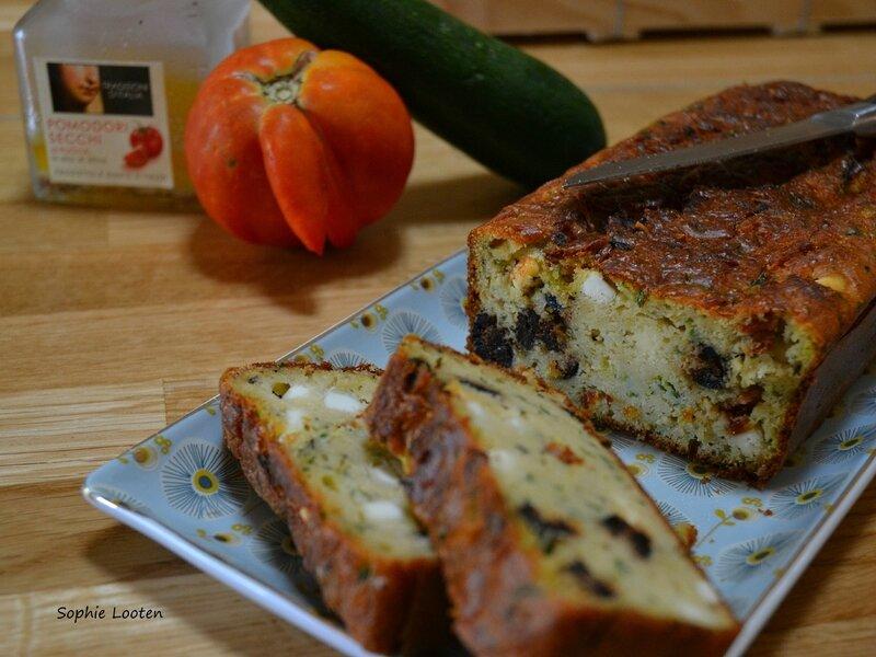 Cake courgette tomate feta olive2