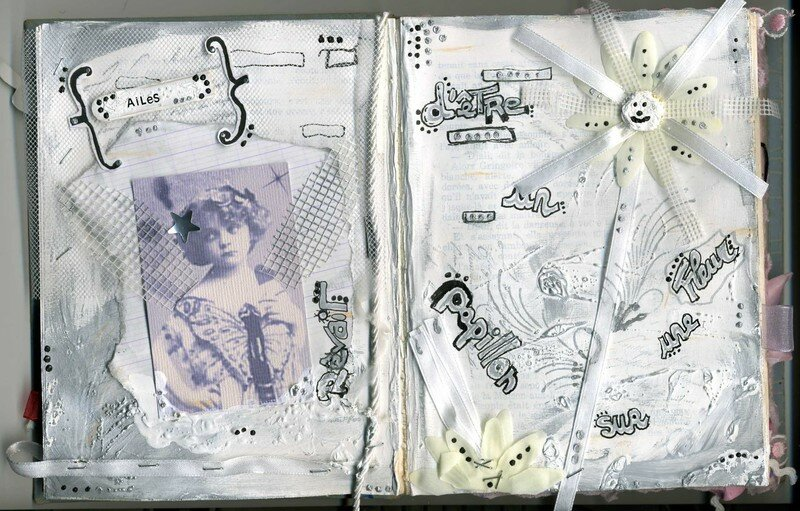 ailes rêvait...., altered book,2007