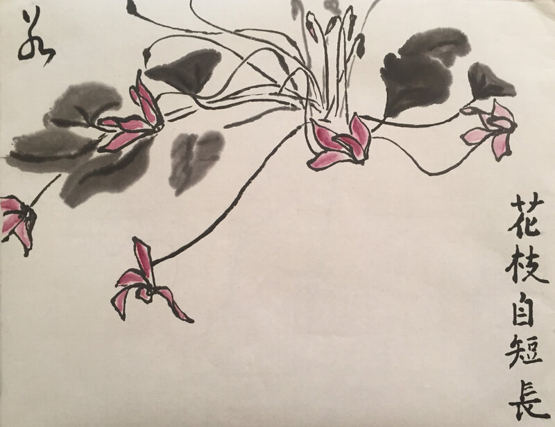 cyclamen , calligraphie de Y-I Galley, 2017