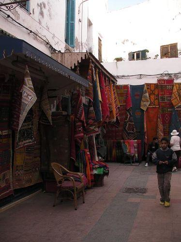 Essaouira rues et tapis