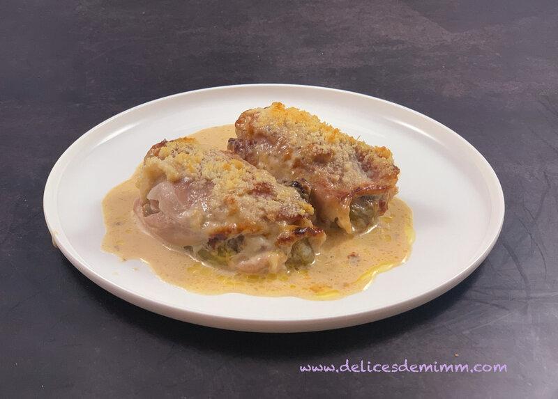 Gratin de chicons (endives) au jambon cru et au parmesan 4