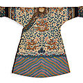 An imperial yellow-ground fur-trimmed kesi twelve-symbol 'dragon' robe (jifu), qing dynasty, guangxu period (1875-1908)