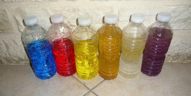 bouteilles de couleur