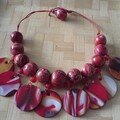 collier pastilles rouges