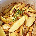 Pommes de terre rôties au citron et au romarin