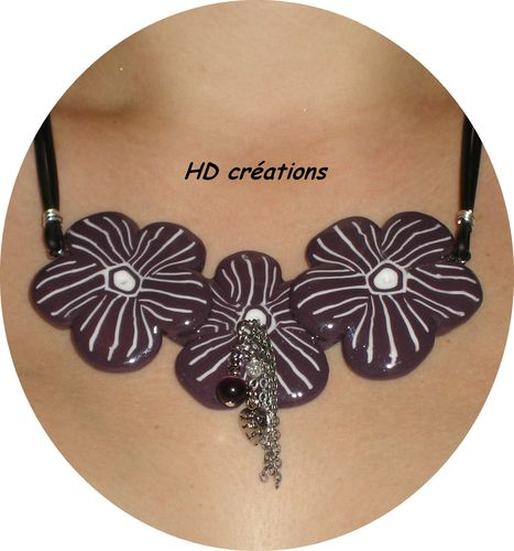 Collier 3 flowers
