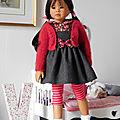 Tenue pour poupée 58cm comme les heidi plusczok 23 ' ou zwergnase 55cm