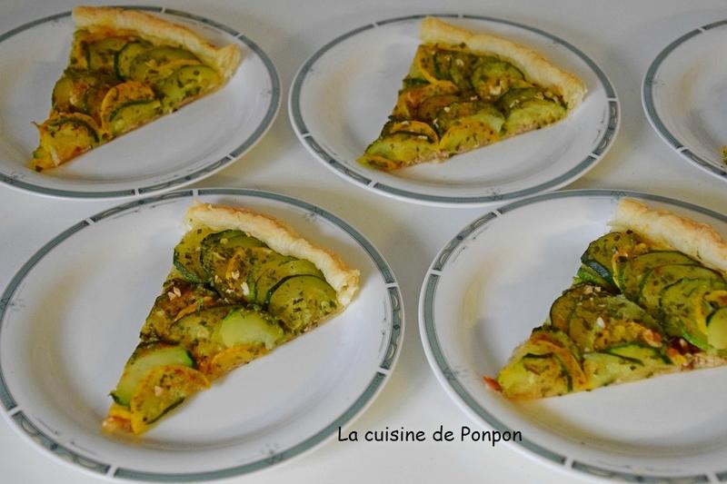 tarte aux courgettes et efilochés (7)