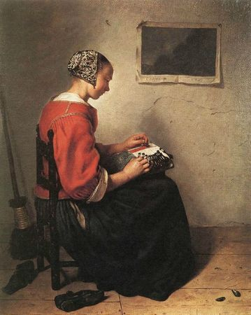 Netscher Caspar the lace maker 1662