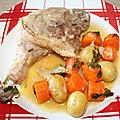 Cuisses de canard gras, carottes pommes de terre