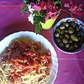 Spaghetti aux olives et tomates-cerises-les recettes de enzo