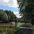 Balade à vélo le long du canal du centre