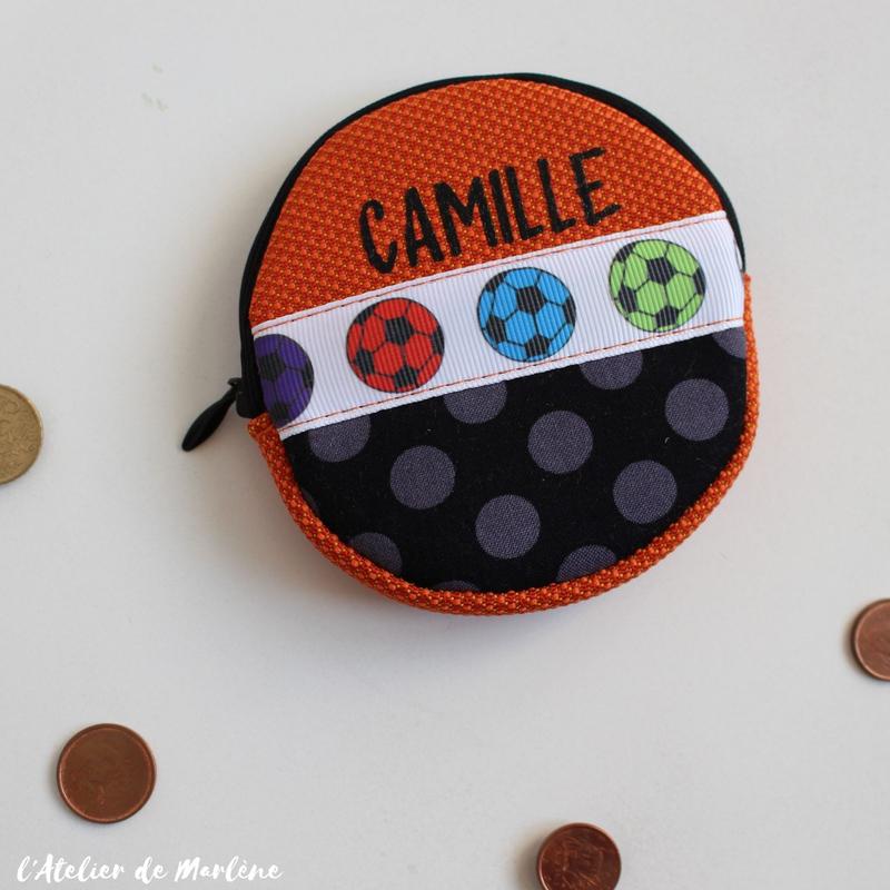 porte monnaie foot Camille
