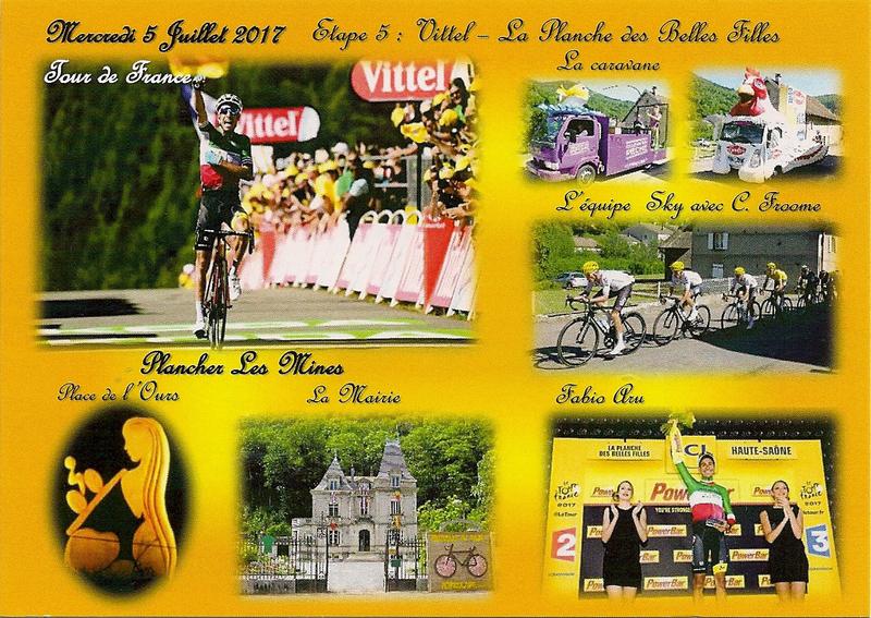 CPM PLM Planche Belles Filles Tour France 2017 BG38