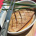 Barbecue du début de l'été: magret massalé et légumes mi cuits