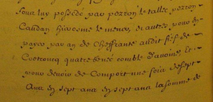 Terrier de Quimperle année 1678 Hyacinthe PEGASSE_2