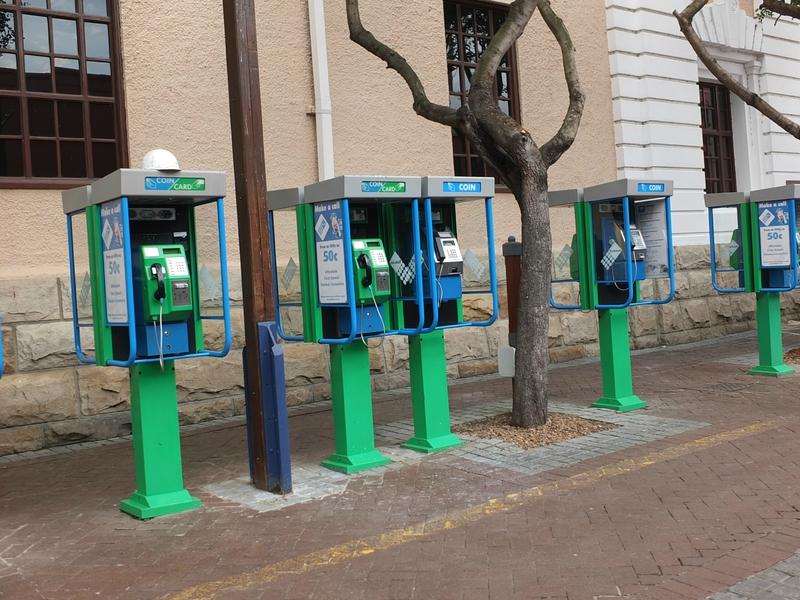 Afrique du Sud - Cabines téléphoniques - Le Cap - Oct 2013