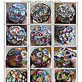 page 18 2014-TOTUM 101 SCHMIMBLOCK'S petites boules – gouache T7 sur argile - ر5cm