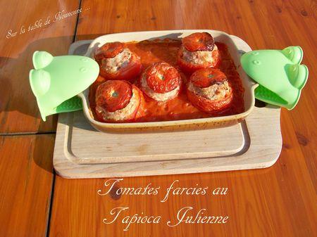 Tomates farcies au tapioca julienne 1